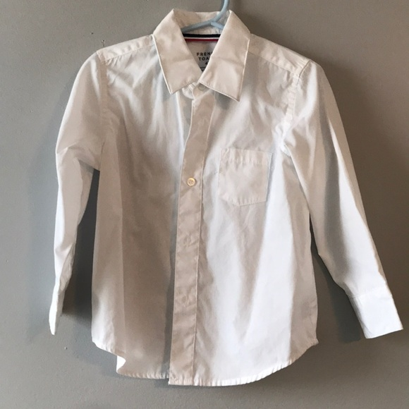 French Toast Other - Toddler boy white button down